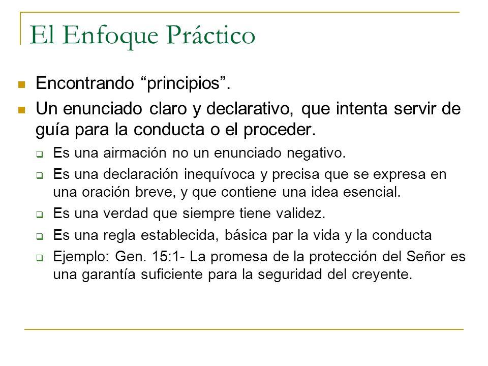 El Enfoque Práctico Encontrando principios .