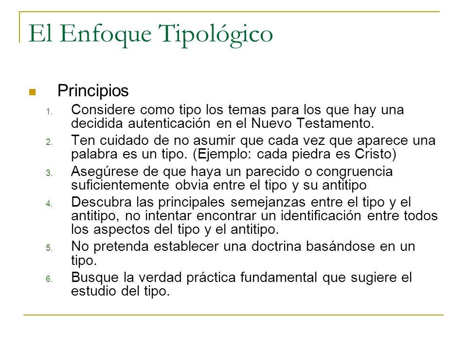 El Enfoque Tipológico Principios