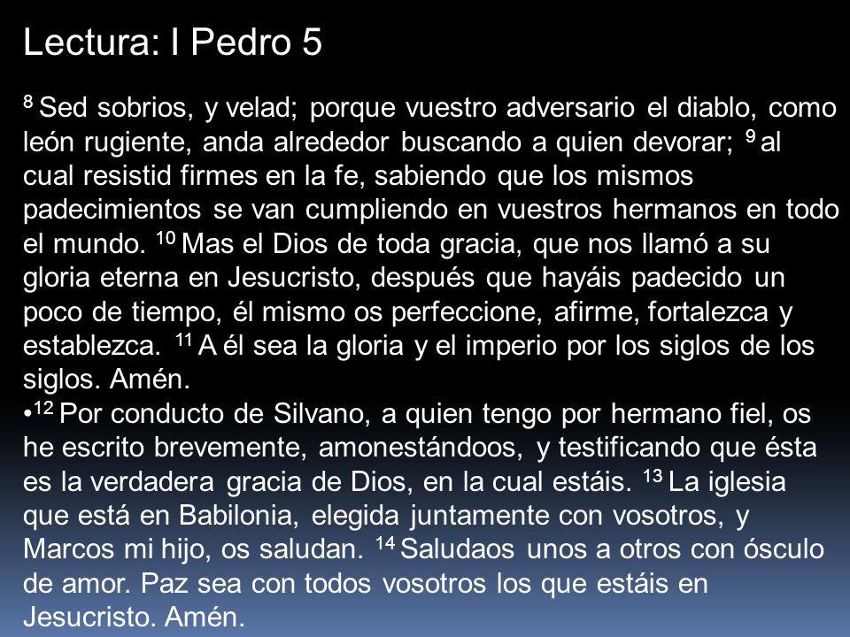 Lectura: I Pedro 5