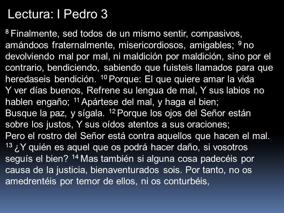 Lectura: I Pedro 3