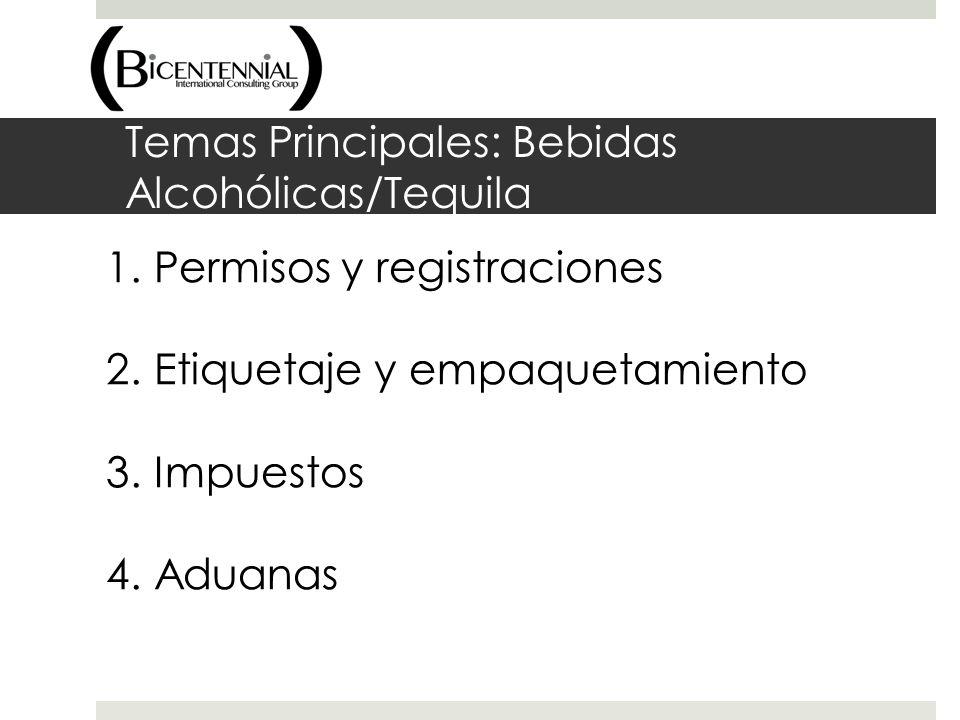 Temas Principales: Bebidas Alcohólicas/Tequila