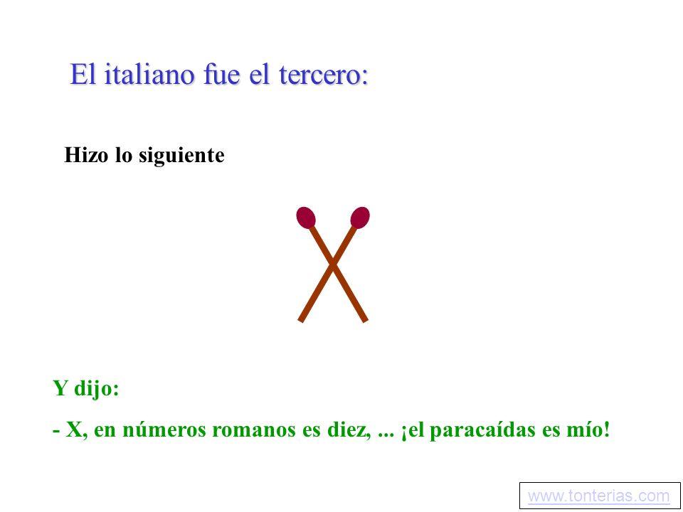 El italiano fue el tercero: