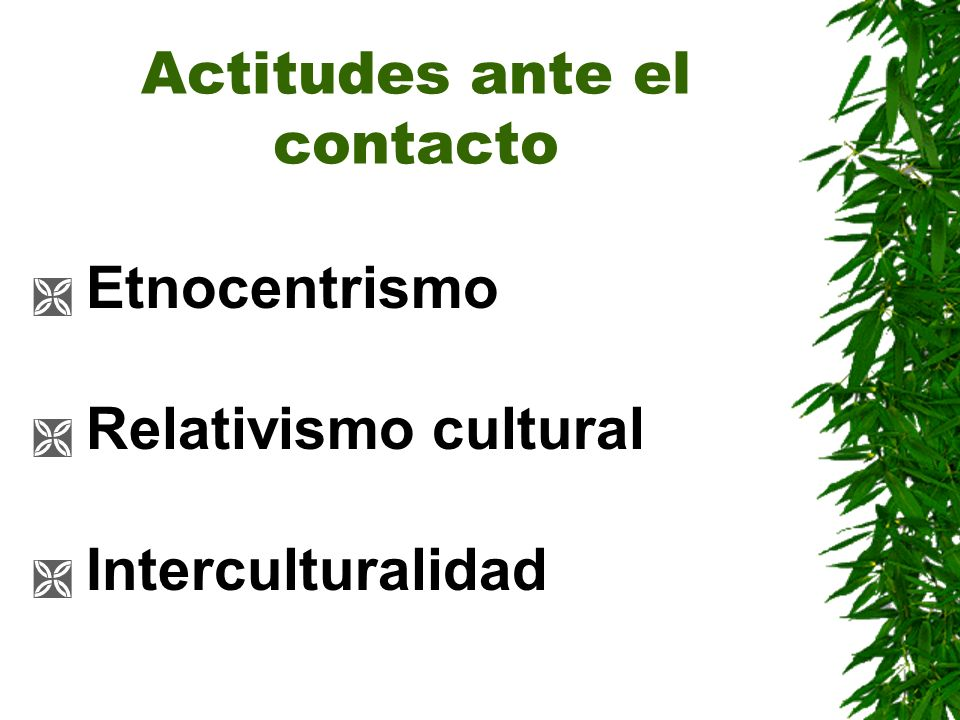 Actitudes ante el contacto