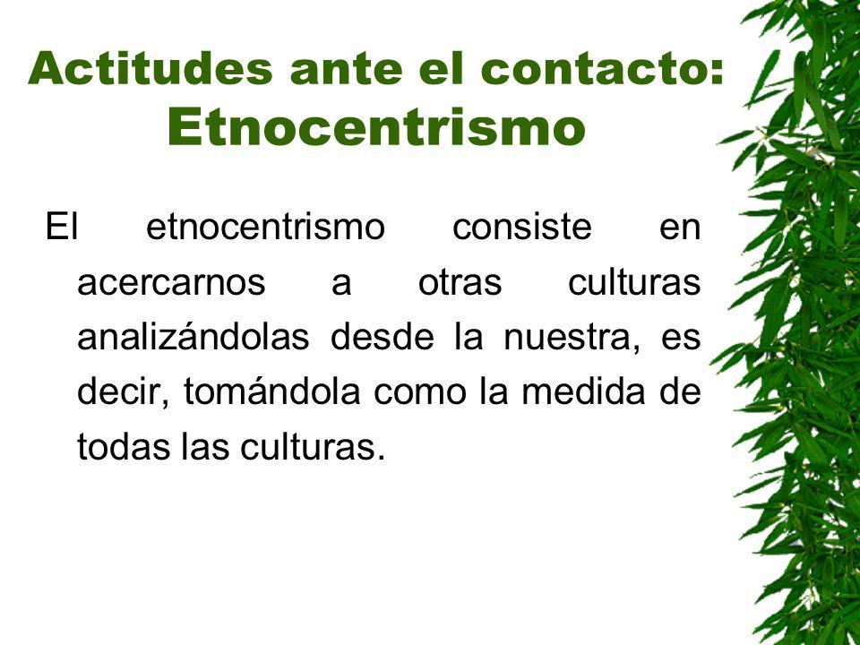 Actitudes ante el contacto: Etnocentrismo
