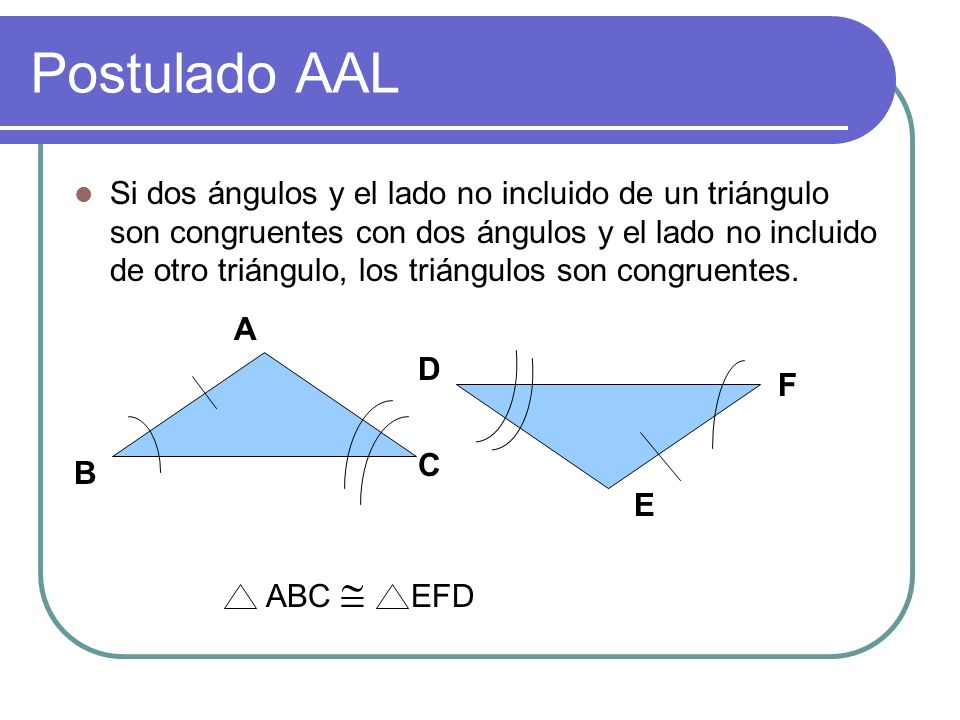 Postulado AAL