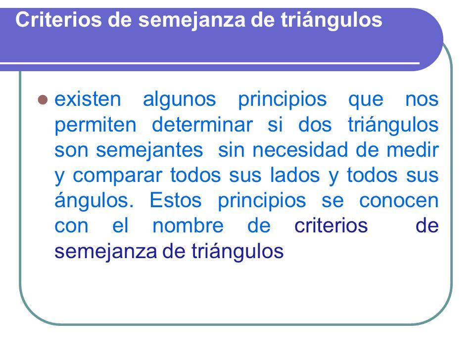 Criterios de semejanza de triángulos