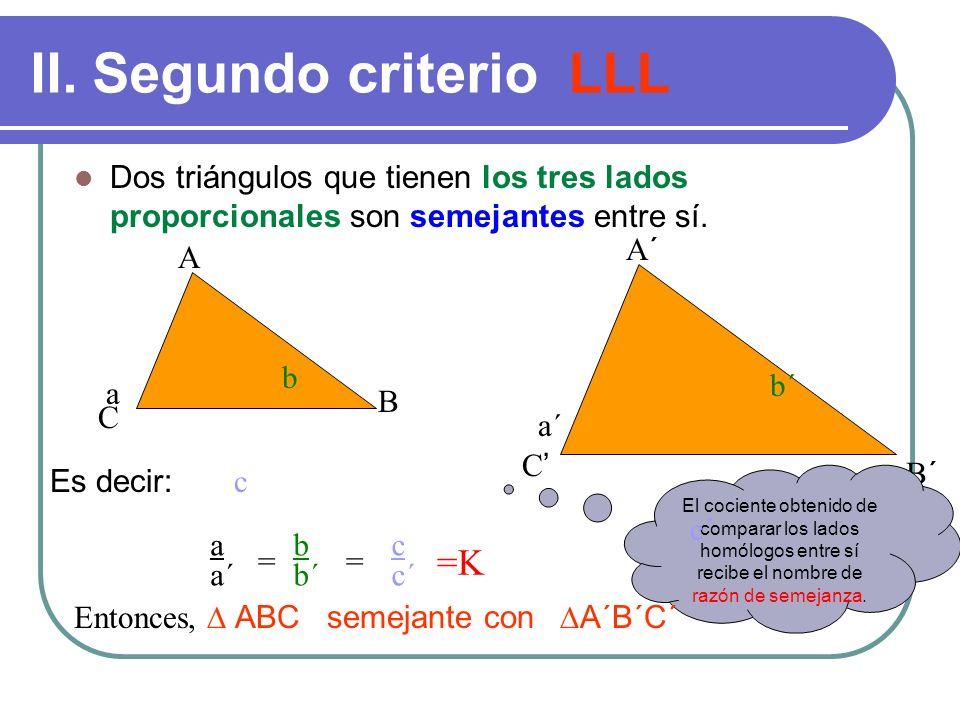 II. Segundo criterio LLL