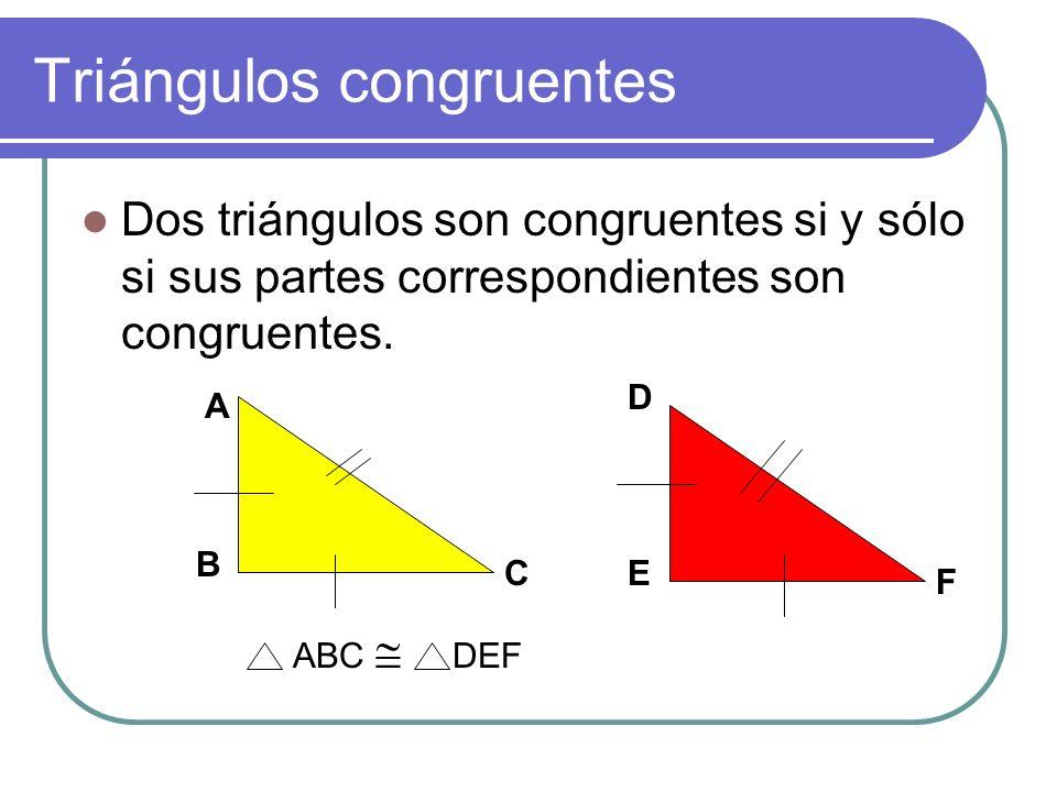 Triángulos congruentes