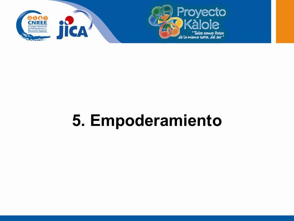 5. Empoderamiento