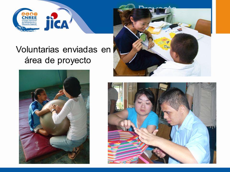 Voluntarias enviadas en área de proyecto