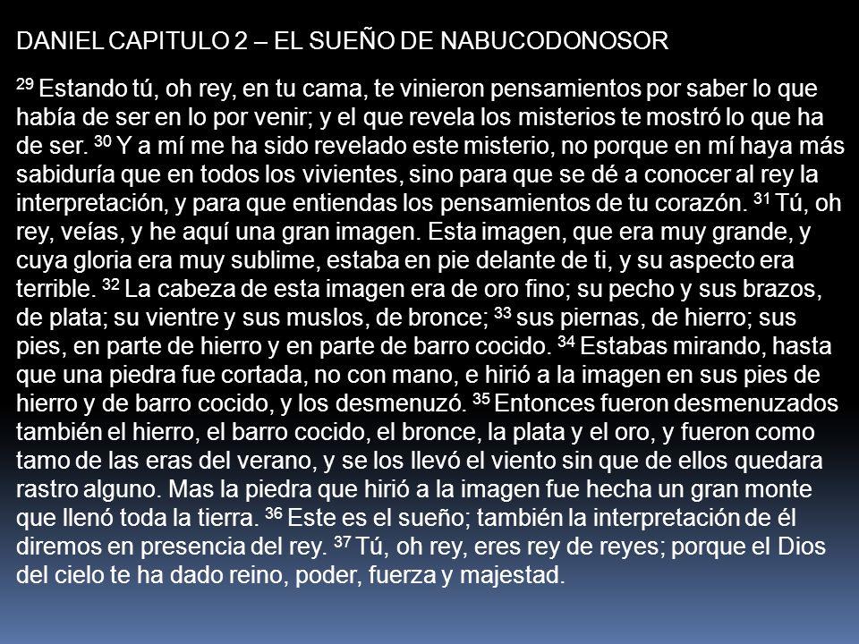 DANIEL CAPITULO 2 – EL SUEÑO DE NABUCODONOSOR