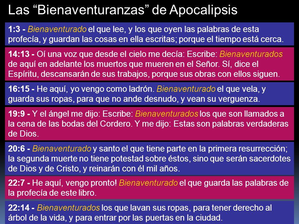 Las Bienaventuranzas de Apocalipsis