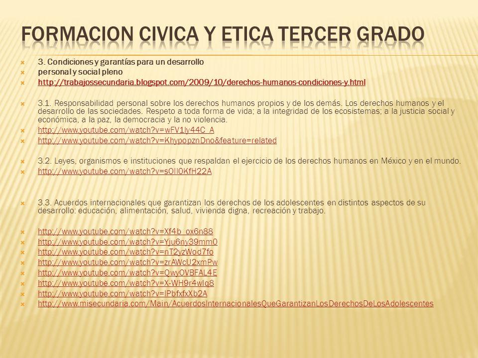 Formacion civica y etica tercer grado