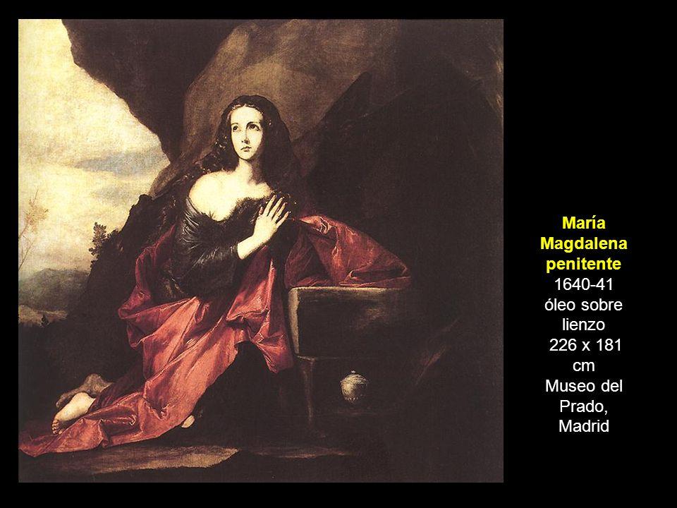 María Magdalena penitente 1640-41 óleo sobre lienzo 226 x 181 cm Museo del Prado, Madrid