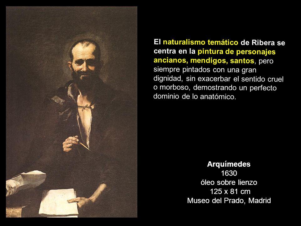 Arquímedes 1630 óleo sobre lienzo 125 x 81 cm Museo del Prado, Madrid