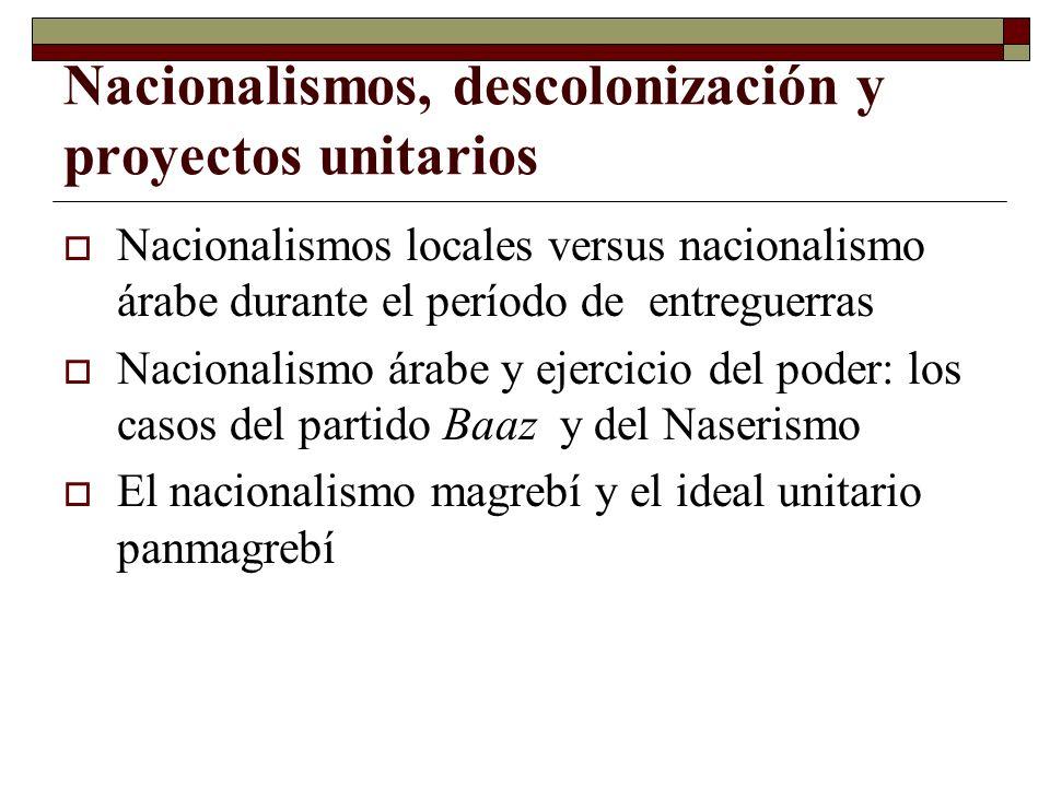 Nacionalismos, descolonización y proyectos unitarios