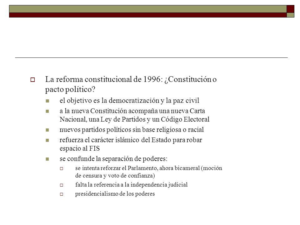 La reforma constitucional de 1996: ¿Constitución o pacto político