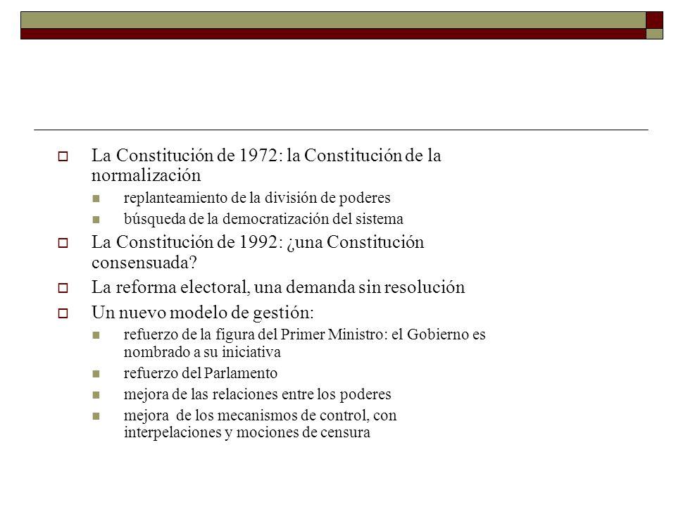 La Constitución de 1972: la Constitución de la normalización