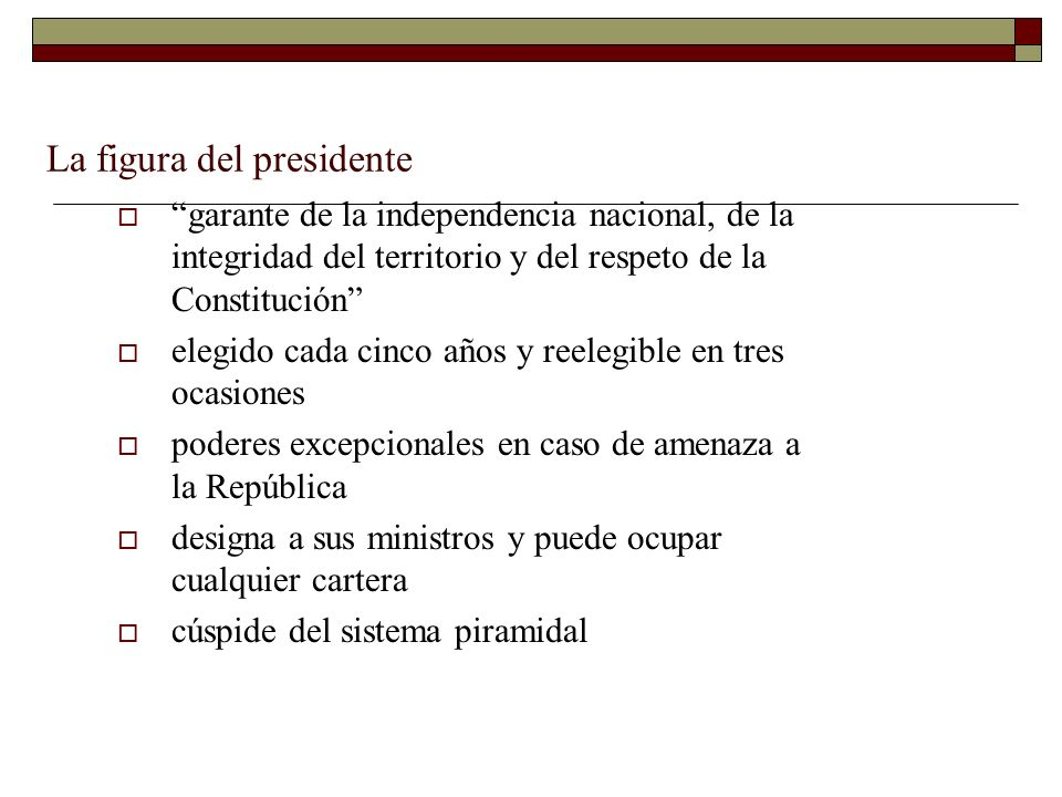 La figura del presidente