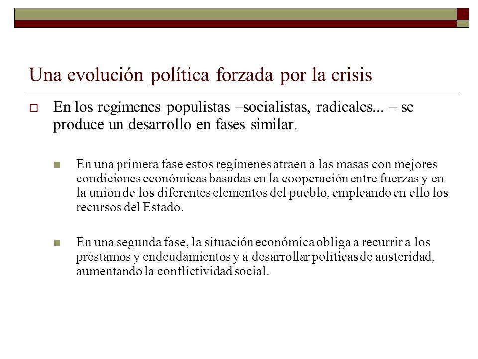 Una evolución política forzada por la crisis