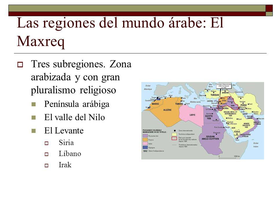 Las regiones del mundo árabe: El Maxreq