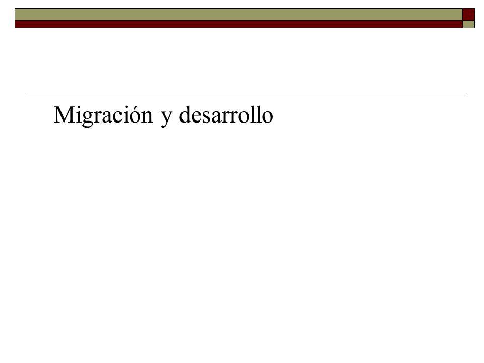 Migración y desarrollo