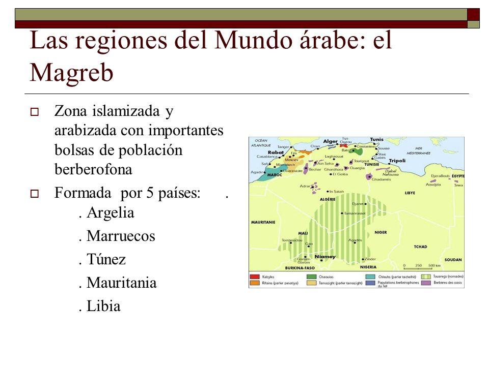 Las regiones del Mundo árabe: el Magreb