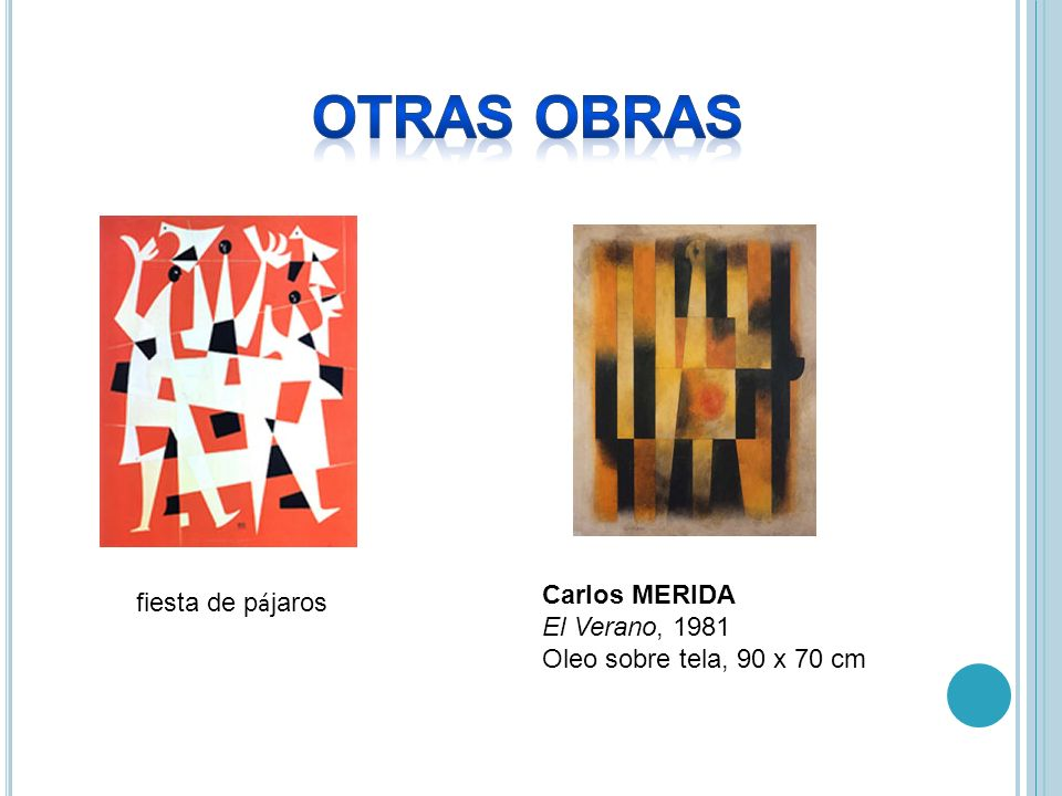 OTRAS OBRAS Carlos MERIDA El Verano, 1981 Oleo sobre tela, 90 x 70 cm