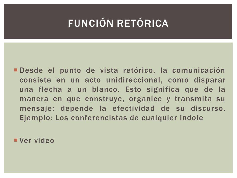 FUNCIÓN RETÓRICA