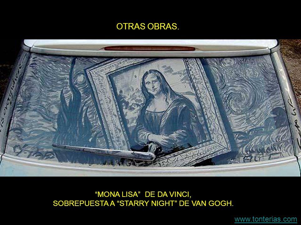 MONA LISA DE DA VINCI, SOBREPUESTA A STARRY NIGHT DE VAN GOGH.