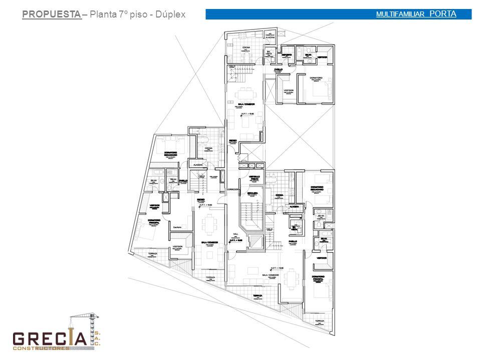 PROPUESTA – Planta 7º piso - Dúplex