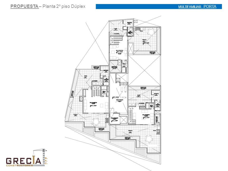 PROPUESTA – Planta 2º piso Dúplex