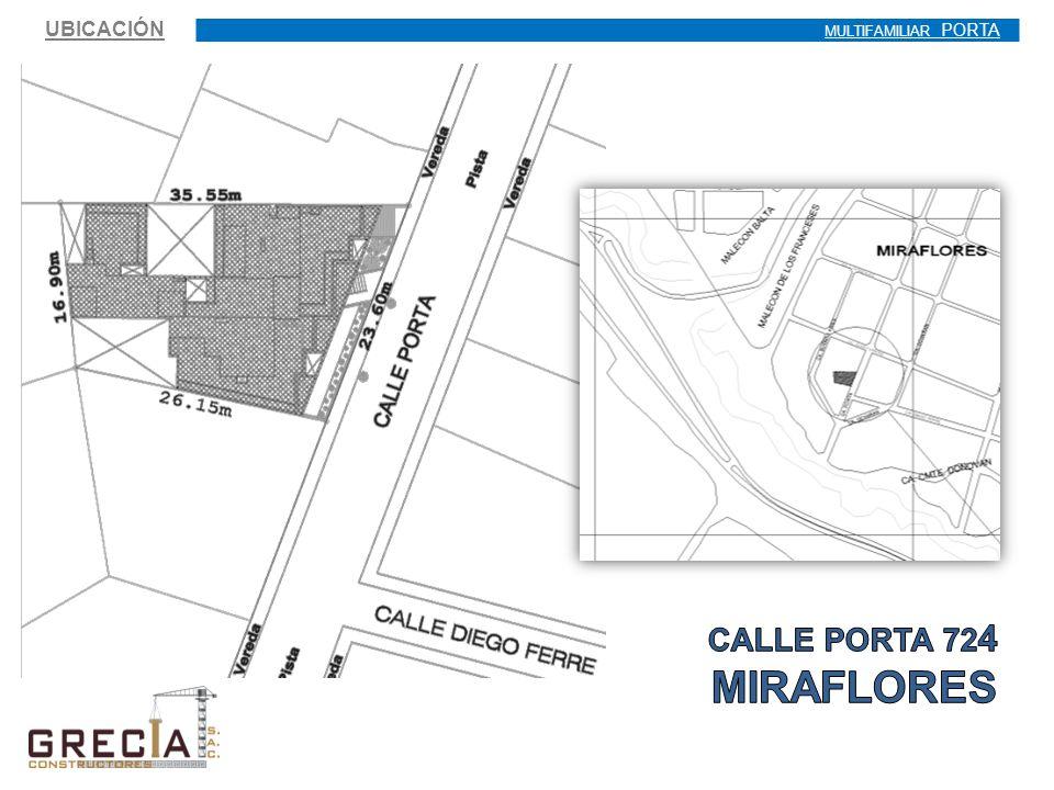 UBICACIÓN MULTIFAMILIAR PORTA CALLE PORTA 724 MIRAFLORES