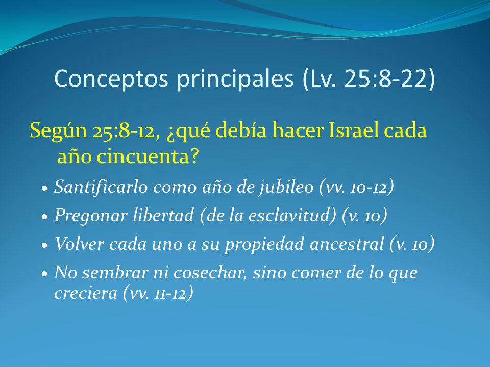 Conceptos principales (Lv. 25:8-22)