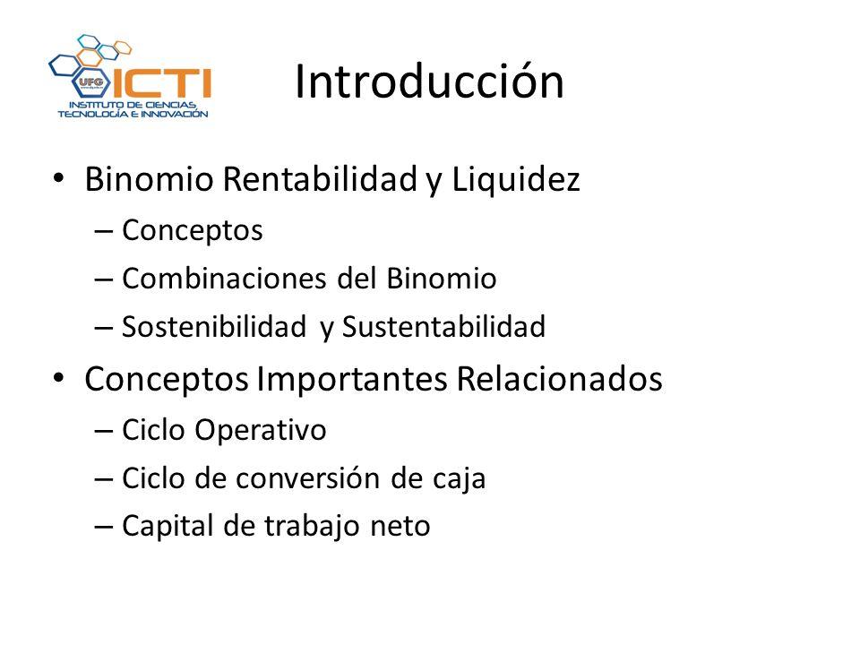 Introducción Binomio Rentabilidad y Liquidez