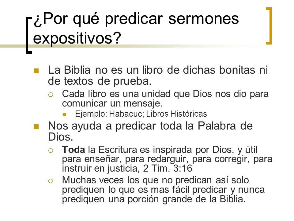 ¿Por qué predicar sermones expositivos