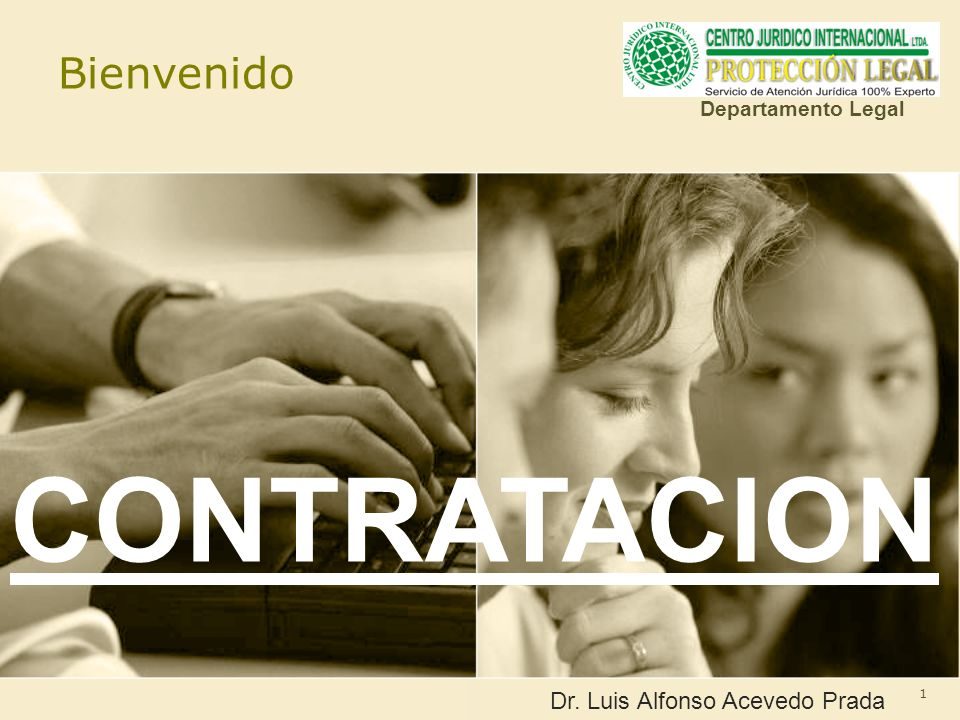 CONTRATACION Bienvenido Dr. Luis Alfonso Acevedo Prada