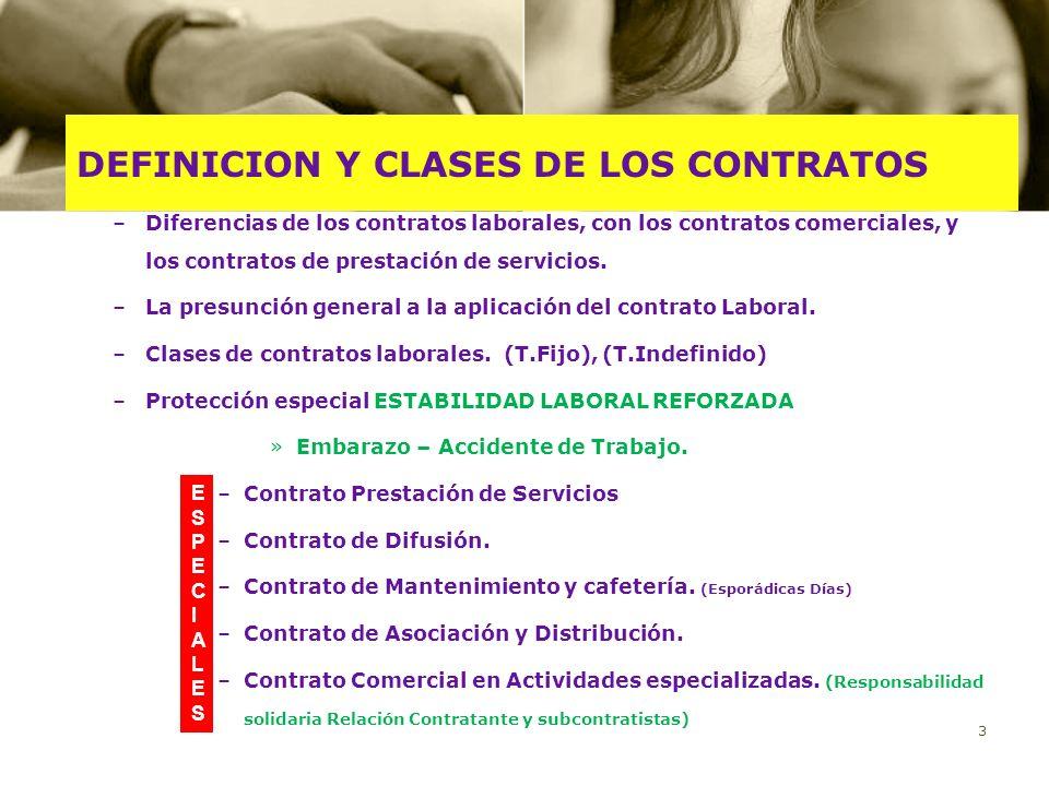 DEFINICION Y CLASES DE LOS CONTRATOS