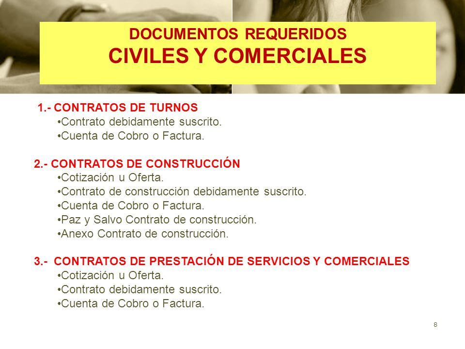 DOCUMENTOS REQUERIDOS