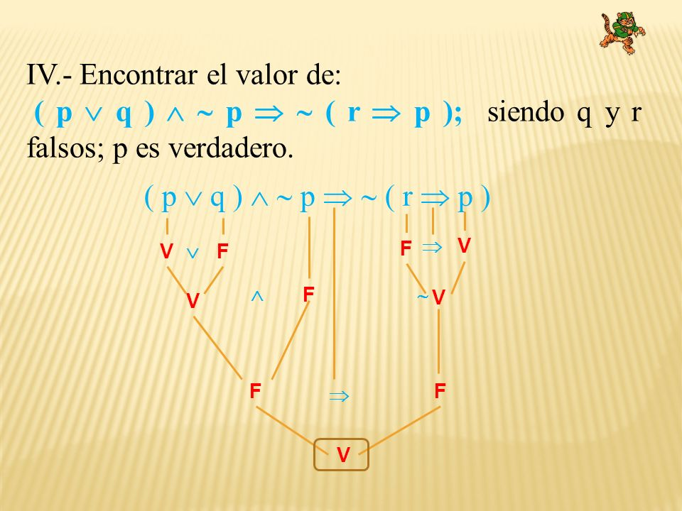 IV.- Encontrar el valor de: