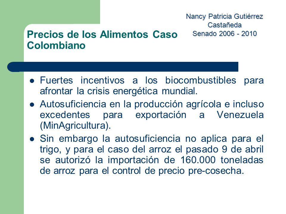 Precios de los Alimentos Caso Colombiano