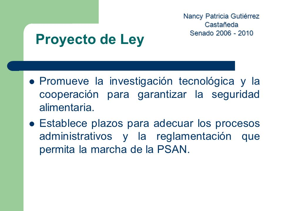 Proyecto de Ley Promueve la investigación tecnológica y la cooperación para garantizar la seguridad alimentaria.