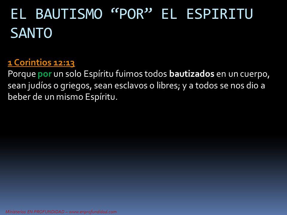 EL BAUTISMO POR EL ESPIRITU SANTO