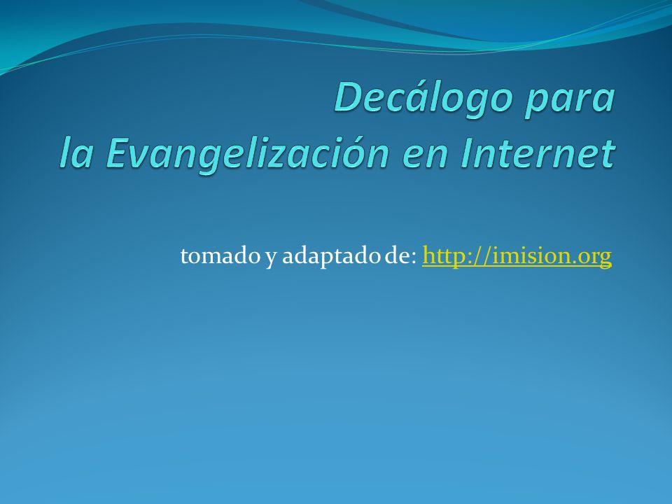 Decálogo para la Evangelización en Internet