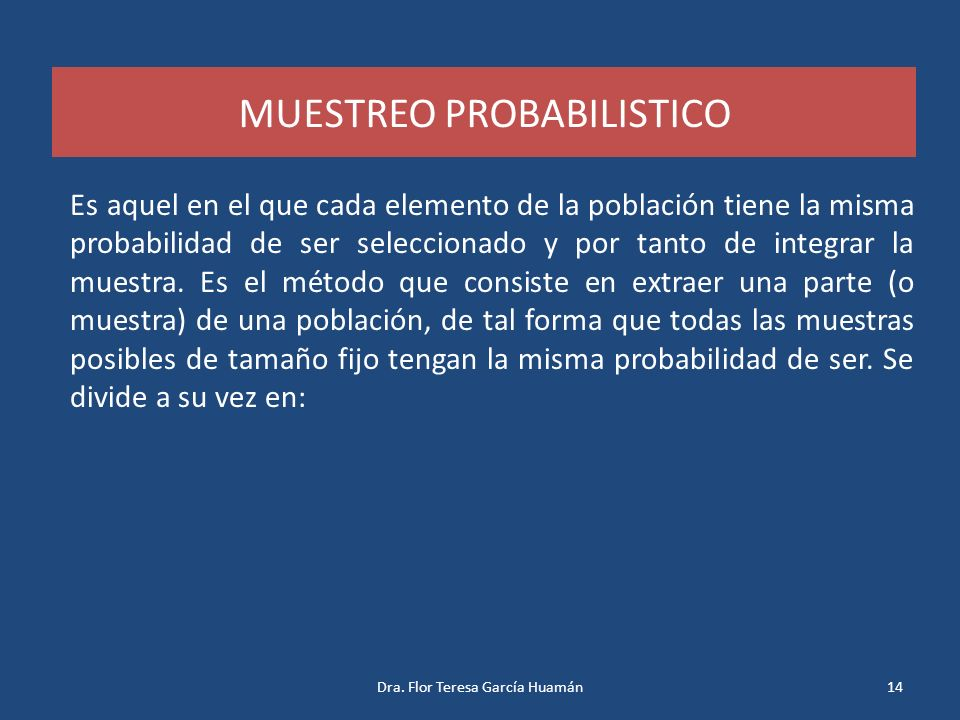 MUESTREO PROBABILISTICO
