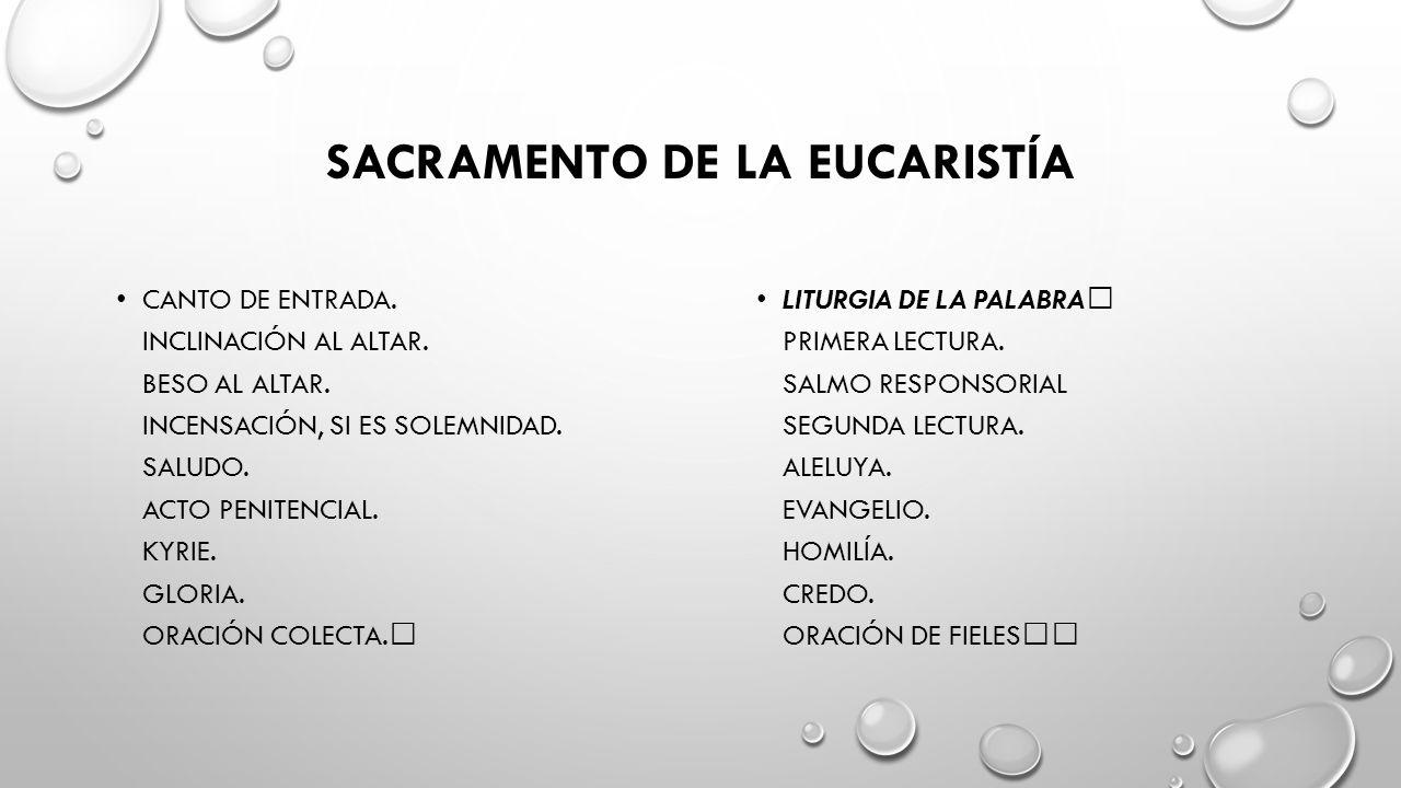 SACRAMENTO DE LA EUCARISTÍA