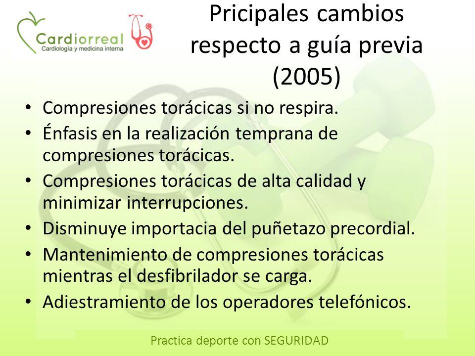 Pricipales cambios respecto a guía previa (2005)