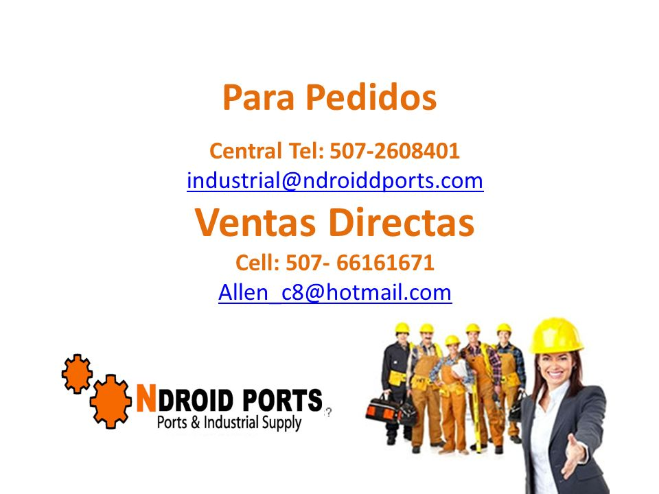 Ventas Directas Para Pedidos Central Tel: 507-2608401