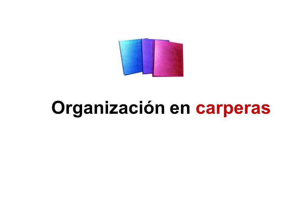 Organización en carperas