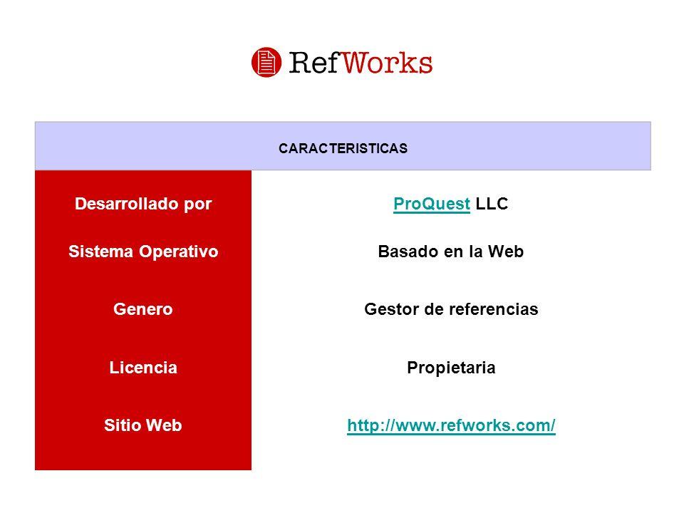 Desarrollado por ProQuest LLC Sistema Operativo Basado en la Web